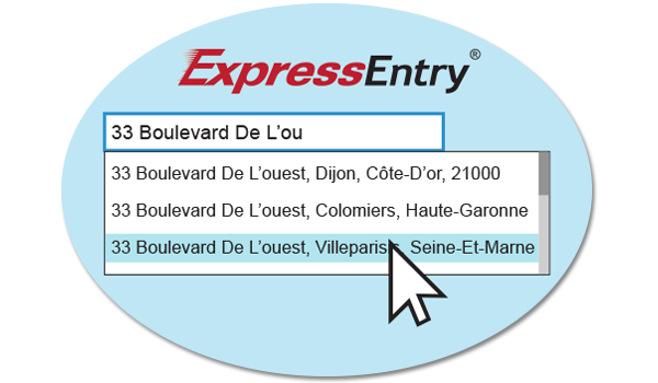 Address Autocomplete - How Global Express Entry Address Autocomplete Works - Germany