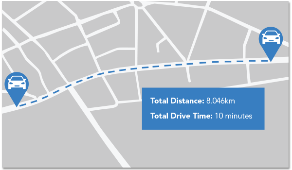 Street Route – Driving Distance Calculation