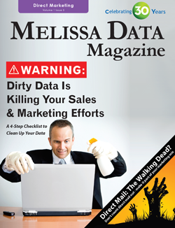 Catalog - Melissa Data Magazine — Direct Marketing