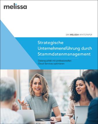 Cover des Whitepapers Strategische Unternehmensführung durch Stammdatenmanagement