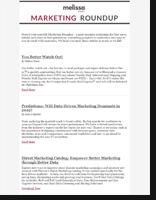 Newsletter - Marketing Roundup