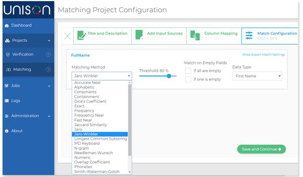 Customer Data Management(CDM) - Intuitive Matching GUI