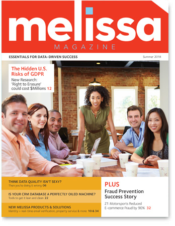 Melissa Magazine - Is Your Single Customer View a GDPR Risk? Surprising Survey Results…. - Cover